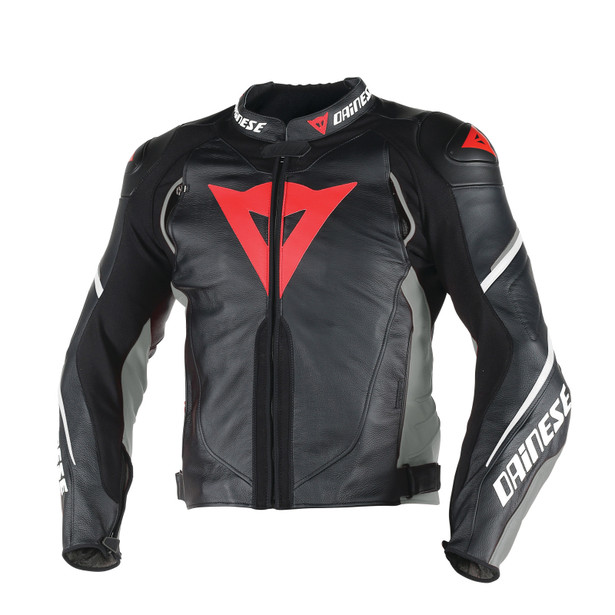 SUPER SPEED D1 LEATHER JACKET BLACK/ANTHRACITE/WHITE- Jackets