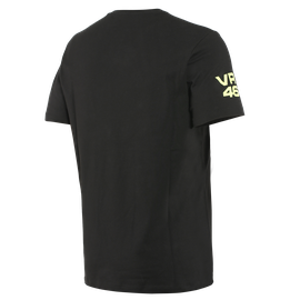 VR46 PIT LANE T-SHIRT BLACK/FLUO-YELLOW- VR46