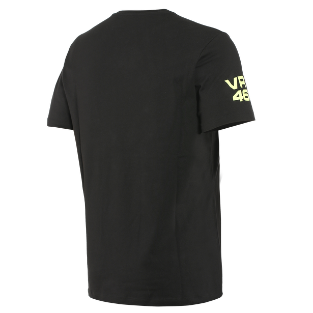 VR46 PIT LANE T-SHIRT BLACK/FLUO-YELLOW- undefined