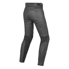 PONY C2 LADY LEATHER PANTS BLACK- Pantalons