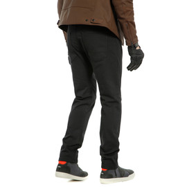 CASUAL SLIM TEX PANTS BLACK- Pantaloni