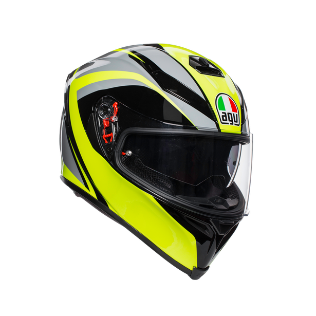 K-5 S MULTI ECE DOT - TYPHOON BLACK/GREY/YELLOW FLUO - K-5 S