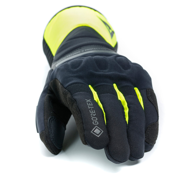 NEMBO GORE-TEX GLOVES+GORE GRIP TECHNOLOGY BLACK/FLUO-YELLOW- Gore-Tex®