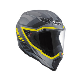 AX-8 EVO NAKED E2205 MULTI - KARAKUM CAMO/YELLOW FLUO - Full-face