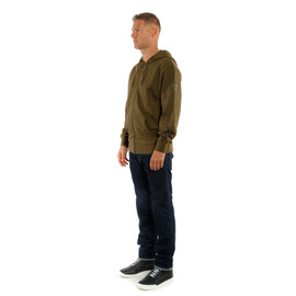 ADVENTURE FULL-ZIP HOODIE MILITARY-OLIVE/BLACK- Casual Wear
