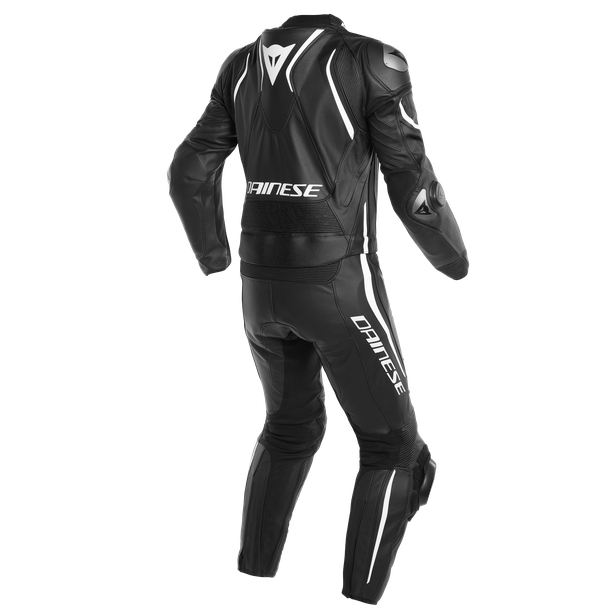 LAGUNA SECA 4 2PCS PERF. SUIT BLACK-MATT/BLACK-MATT/WHITE- Two Piece Suits