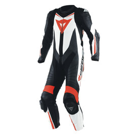LAGUNA SECA D1 1PC PERF SUIT BLACK/WHITE/FLUO-RED- One Piece Suits