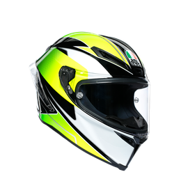 CORSA R MULTI ECE DOT - SUPERSPORT BLACK/WHITE/LIME