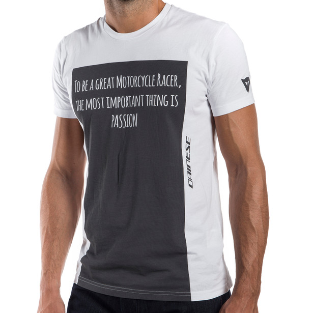 RACER-PASSION  T-SHIRT WHITE/ANTHRACITE- T-Shirts