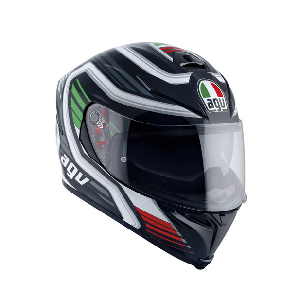 K-5 S E2205 MULTI - FIRERACE BLACK/ITALY - Full Face