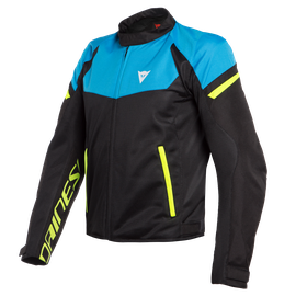 BORA AIR TEX JACKET BLACK/FIRE-BLUE/FLUO-YELLOW- Textil
