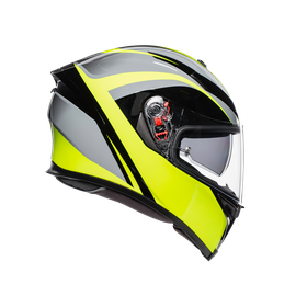 K-5 S E2205 MULTI - TYPHOON BLACK/GREY/YELLOW FLUO - Full-face