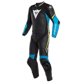LAGUNA SECA 4 2PCS SUIT BLACK/FIRE-BLUE/FLUO-YELLOW- Divisibili