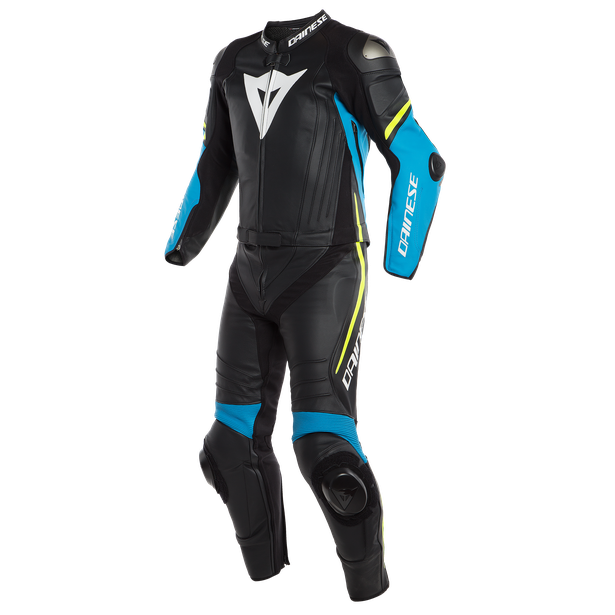 LAGUNA SECA 4 2PCS SUIT BLACK/FIRE-BLUE/FLUO-YELLOW- Two Piece Suits