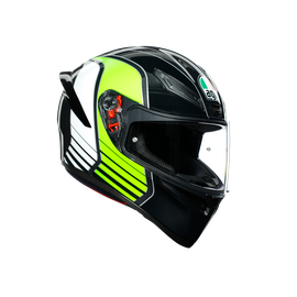K1 MULTI ECE DOT - POWER GUNMETAL/WHITE/GREEN - Full-face Sport