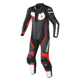VELOSTER 1 PIECE PERFORATED SUIT BLACK/WHITE/FLUO-RED- One Piece Suits
