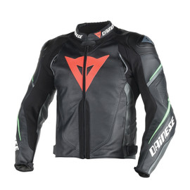 SUPER SPEED D1 PERF LEATHER BLACK/ANTHRACITE/FLUO-GREEN- Jackets