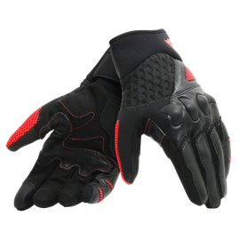 X-MOTO GLOVES BLACK/FLUO-RED