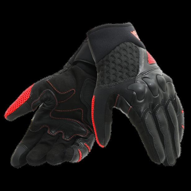 X-MOTO GLOVES BLACK/FLUO-RED- Gloves