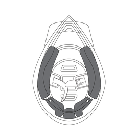 AGV CHEEK PADS AX-8 EVO (M) - BLACK - Accessories