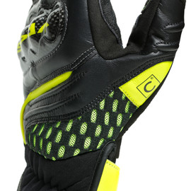 VR46 SECTOR SHORT GLOVES BLACK/ANTHRACITE/FLUO-YELLOW- VR46