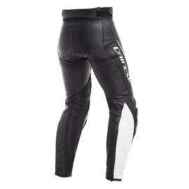 ASSEN LEATHER PANTS  BLACK/WHITE- Leder