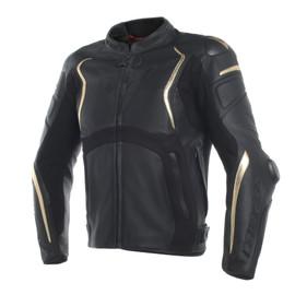MUGELLO ANNIVERSARIO LEATHER JACKET BLACK/GOLD- Jackets