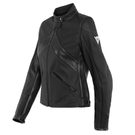 SANTA MONICA LADY LEATHER JACKET PERF. BLACK
