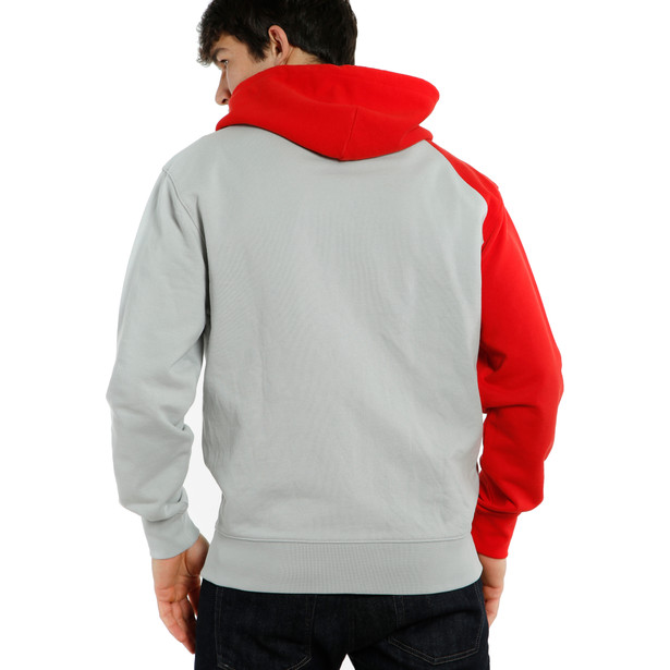 PADDOCK FULL-ZIP HOODIE GLACIER-GRAY/LAVA-RED/BLACK- Casual Wear