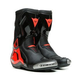 TORQUE 3 OUT BOOTS BLACK/FLUO-RED- Cuir