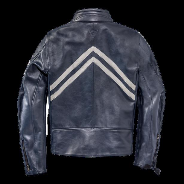 FRECCIA72 LEATHER JACKET BLUE/WHITE-S- Motorbike