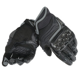 CARBON D1 SHORT LADY GLOVES BLACK/BLACK/BLACK- Leder
