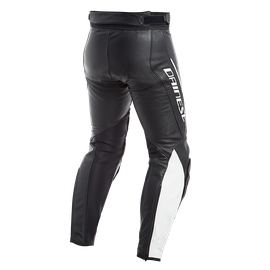 ASSEN LEATHER PANTS  BLACK/WHITE- Leather