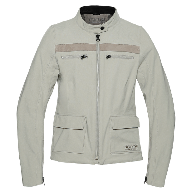 KIFFA LADY TEX JACKET FEATHER-GRAY- Dunes