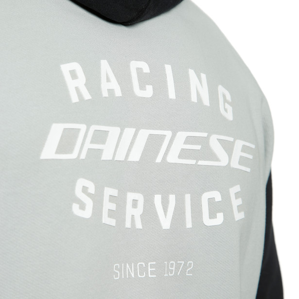 RACING SERVICE FULL-ZIP HOODIE GLACIER-GRAY/BLACK- Casual Wear
