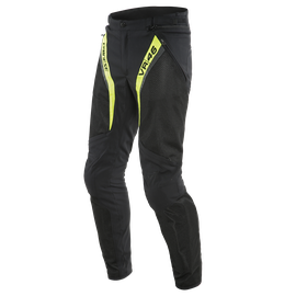 VR46 GRID AIR TEX PANTS BLACK/FLUO-YELLOW