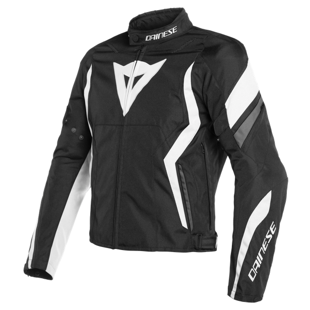 EDGE TEX JACKET BLACK-MATT/WHITE/EBONY- Tessuto
