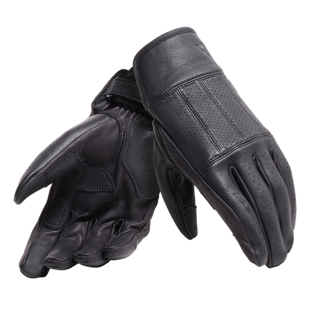 HI-JACK UNISEX GLOVES BLACK- Leather