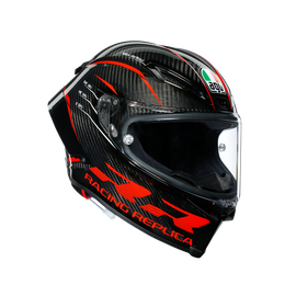 PISTA GP RR ECE DOT MULTI - PERFORMANCE CARBON/RED - undefined