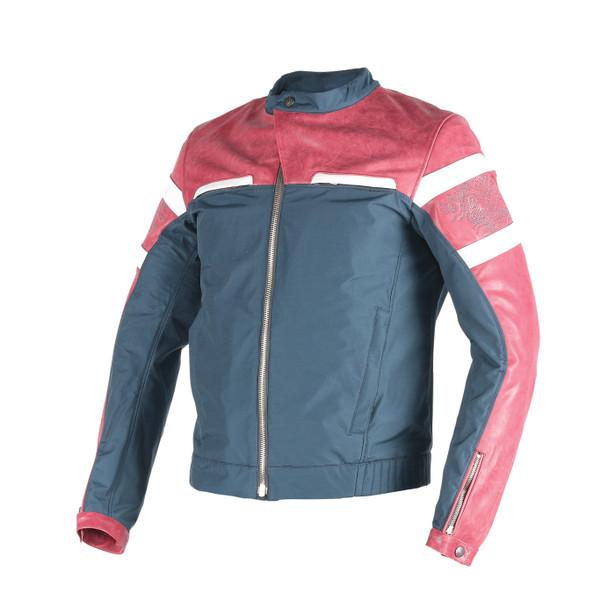 ZHEN YUN LEATHER-TEX JACKET CINO-BURGUNDY/QUING-GRAY/WHITE- Jackets