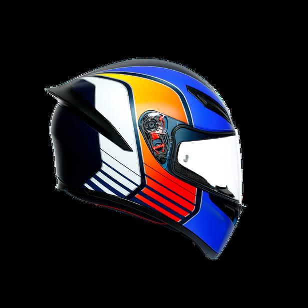 K1 MULTI ECE DOT - POWER MATT DARK BLUE/ORANGE/WHITE - Full-face Sport
