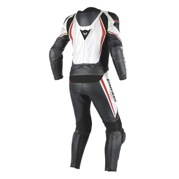 LAGUNA SECA D1 2PCS SUIT WHITE/BLACK/FLUO-RED- Two Piece Suits