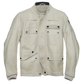 KIDAL LEATHER JACKET FEATHER-GRAY- Leder