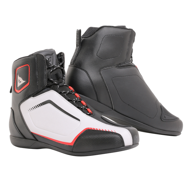 RAPTORS SHOES BLACK/WHITE/RED-LAVA- Textil