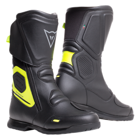 X-TOURER D-WP BOOTS BLACK/FLUO-YELLOW- Wasserfest