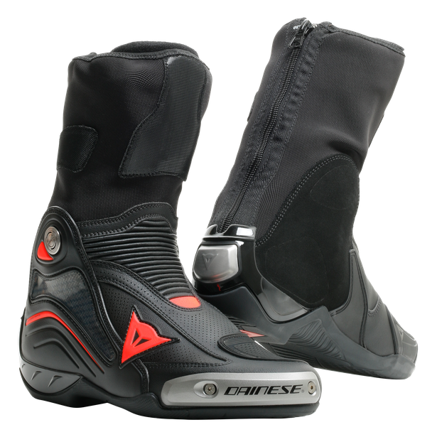 AXIAL D1 AIR BOOTS BLACK/FLUO-RED- Leather