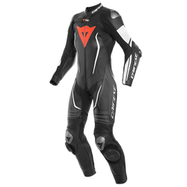 MISANO 2 LADY D-AIR PERF. 1PC SUIT BLACK/BLACK/WHITE- Cadeaux racing
