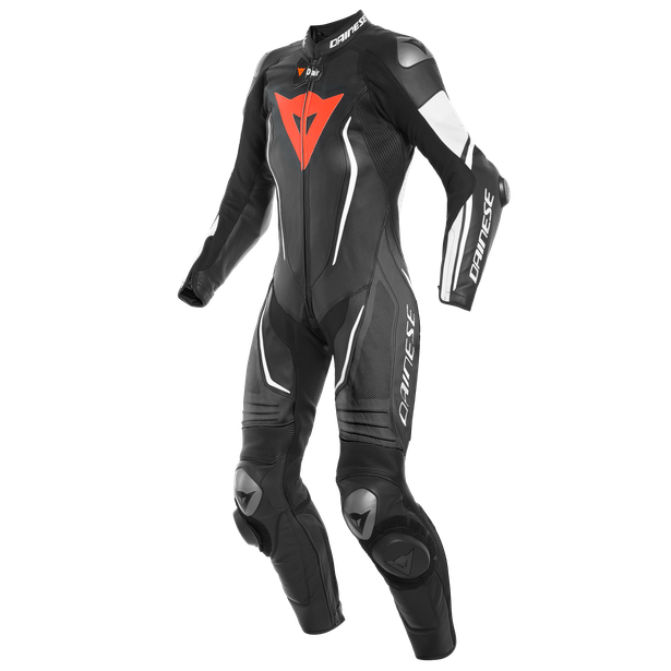 MISANO 2 LADY D-AIR PERF. 1PC SUIT BLACK/BLACK/WHITE- Regalos racing