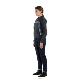 LOLA 3 LADY LEATHER JACKET BLACK/EBONY/RED/BLUE- Blousons