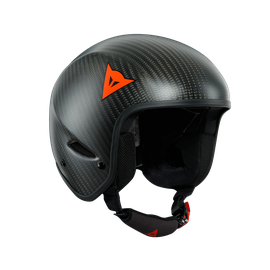 GT CARBON WC HELMET CARBON-MATT/RED-LOGO
